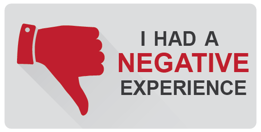 I had a negative experience.