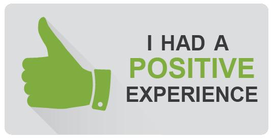 I had a positive experience.